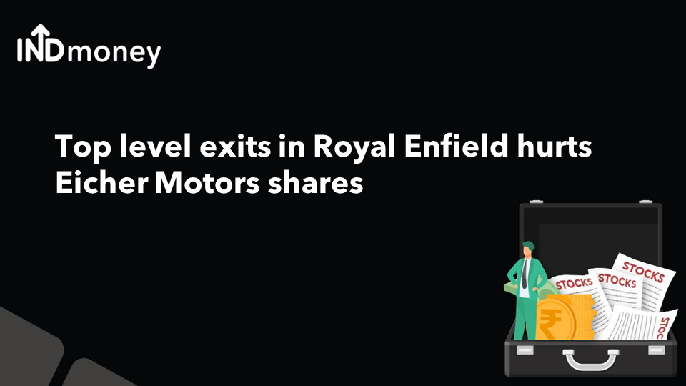 Top level exits in Royal Enfield hurts Eicher Motors shares