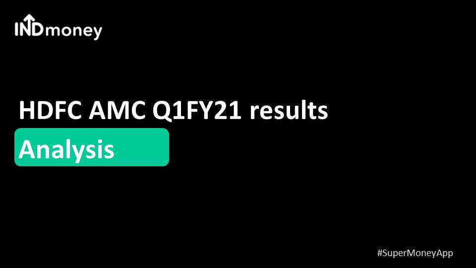 HDFC AMC Q1 result update!