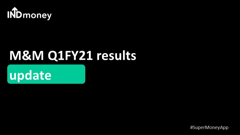 M&M Q1 results update!