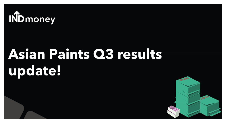 Asian Paints Q3 results update!