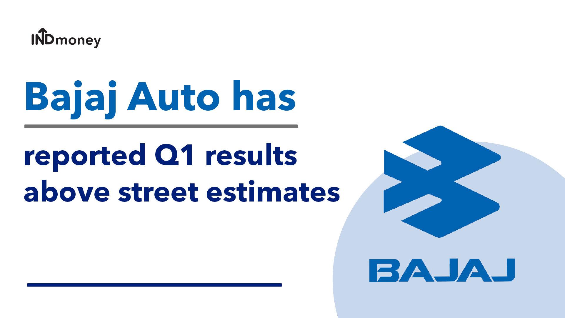 Bajaj Auto Quarterly Results: Bajaj Q1 Results (FY21-22), Earnings & News