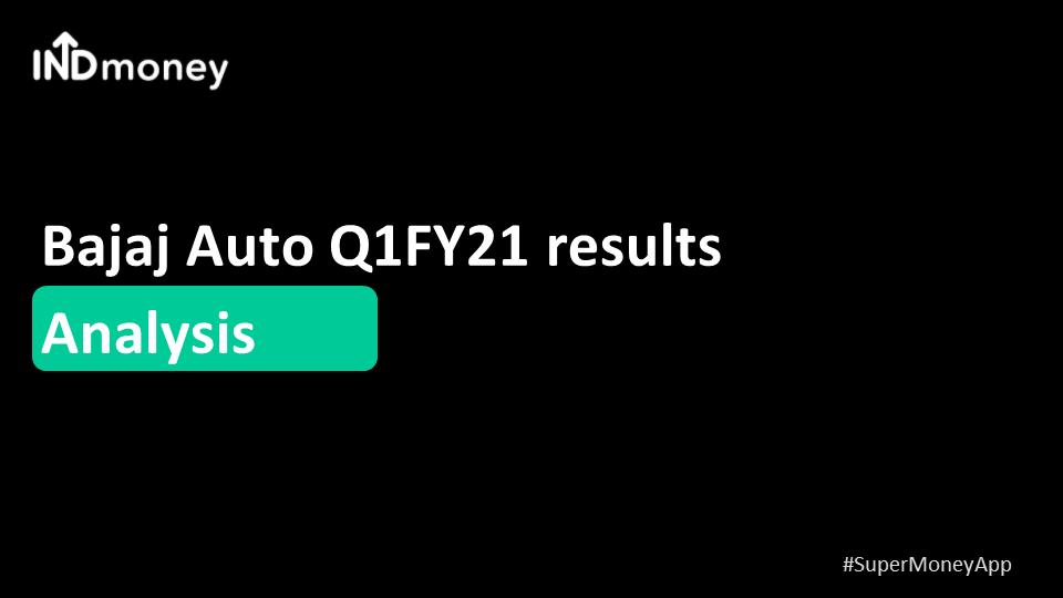 Bajaj Auto announces Q1 results!