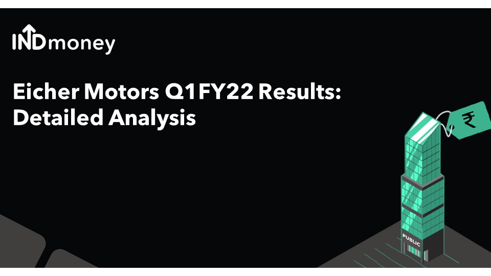 Eicher Results: Eicher Motors Quarterly Results (Q1:2021), Earnings & News