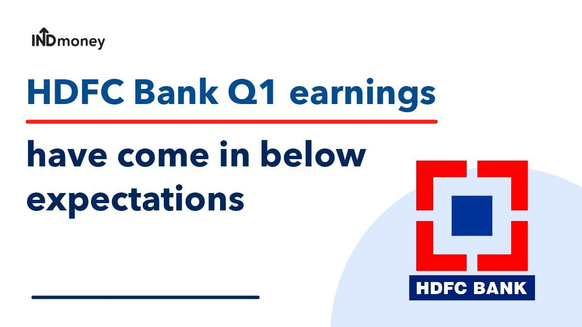 HDFC Bank Q1 Results (FY21-22): HDFC Bank Results, Earnings, News & More