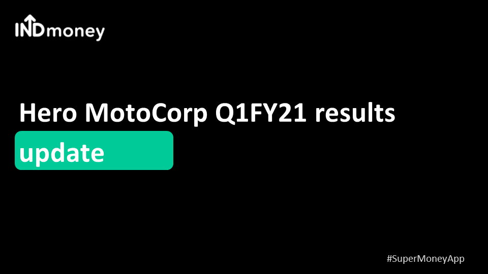 HeroMotoCorp Q1 results update