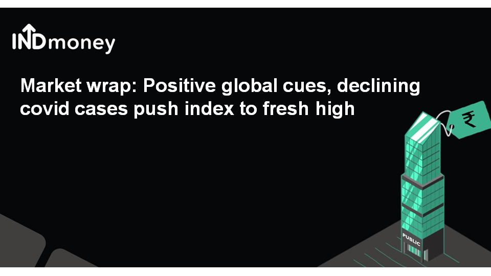 Market wrap: Positive global cues, declining covid cases push index to fresh high