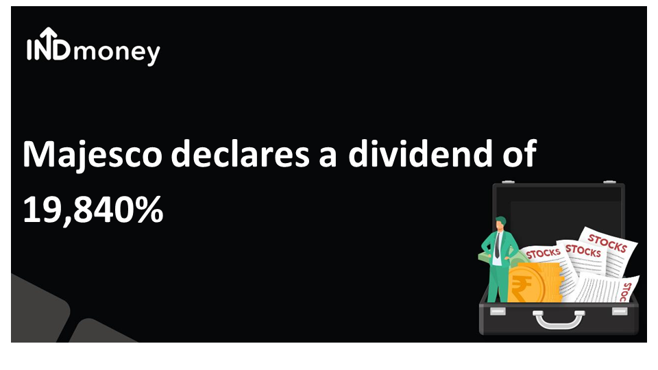 Majesco has declared a dividend of 19,480%!