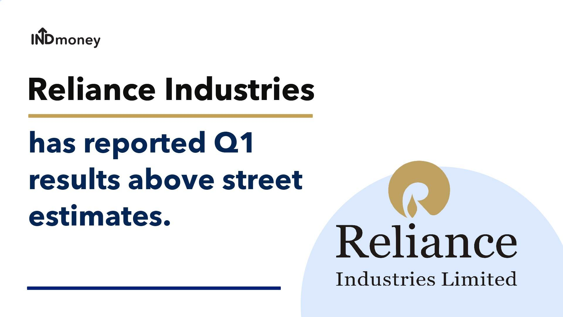 RIL Results: Reliance Industries Quarterly Results-Q1(2021), News & Earnings