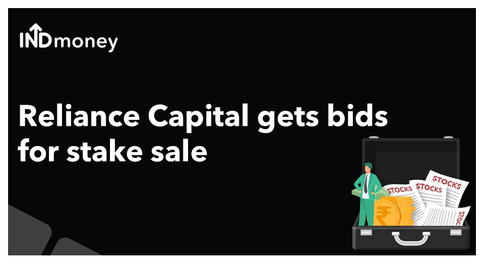 Reliance Capital gets bids for stake sale!