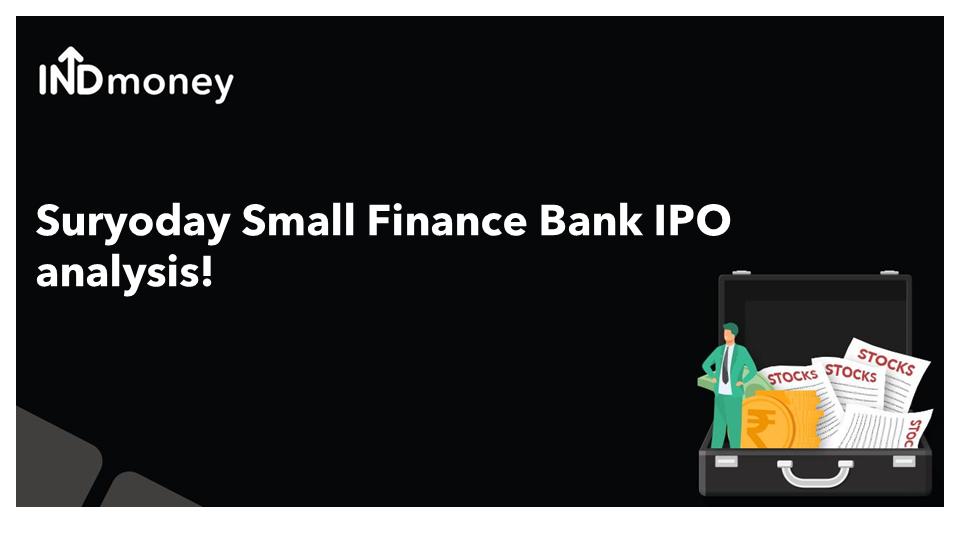 Suryoday Small Finance Bank IPO analysis!