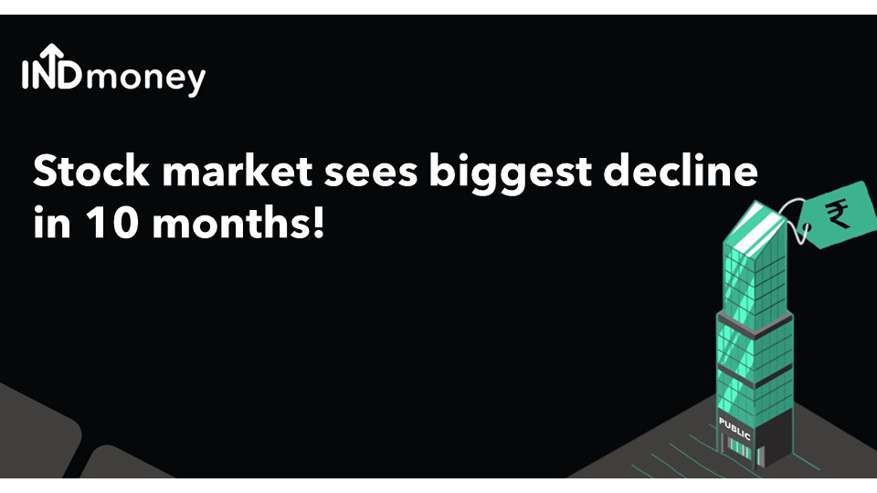 Stock market posts biggest one-day fall in 10 months!