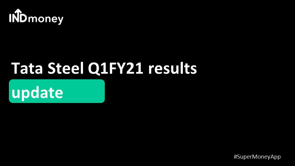 Tata Steel Q1 results update!