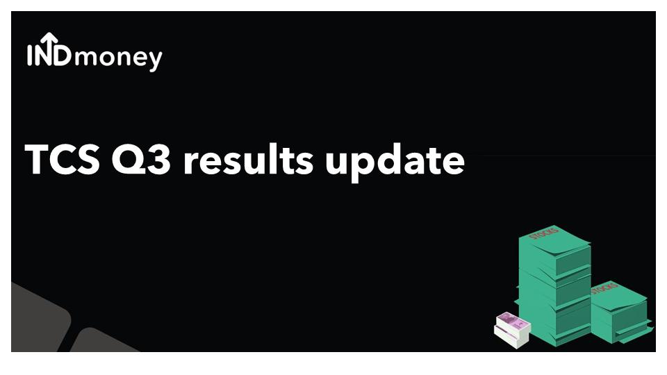 TCS Q3 results update