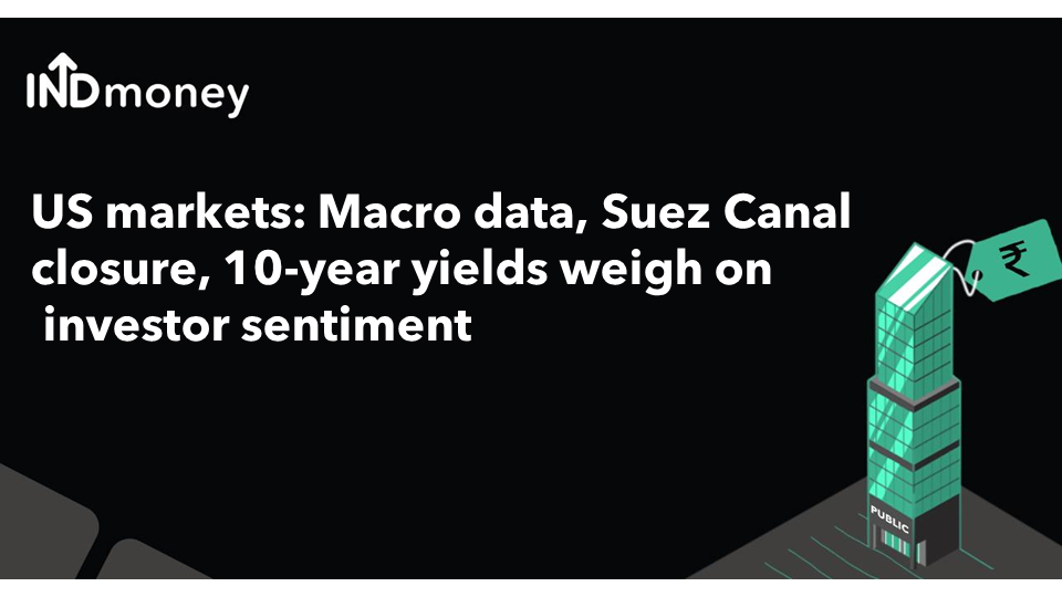 US markets: Macro data, Suez Canal closure, 10-year yields weigh on investor sentiment
