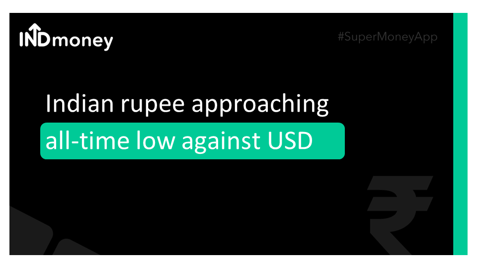 USD-INR inching close to its all-time low!