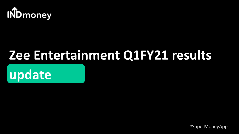 Zee Entertainment Q1 results update!